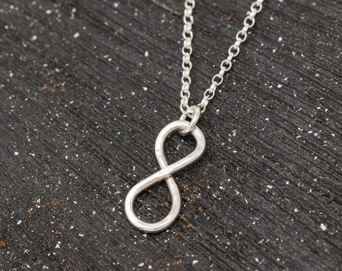 Sterling Silver Infinity Knot Necklace|Infinity Knot Necklace|Knot Necklace|Eternity Necklace|Mothers Necklace|Gift for Her|Gift for Mothers