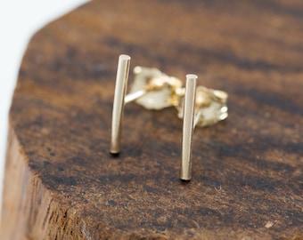 14K Gold Filled Bar Stud Earrings|Gold Staple Earrings|Gold Filled Stick Studs|Gold Bar Earrings|Gold Stick Earrings|Gold Minimalist