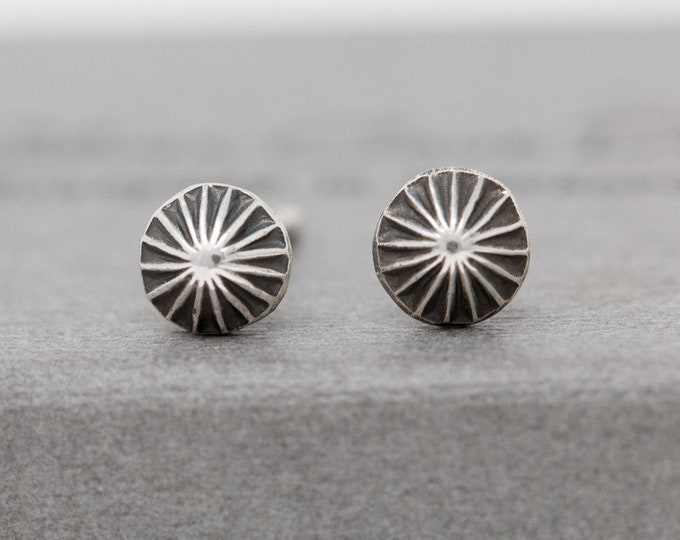 Sterling Silver Star Earrings|Wishing Star Stud Earrings|Star Studs|Silver Star Earrings|Sterling Silver Seashell Earrings|Unisex