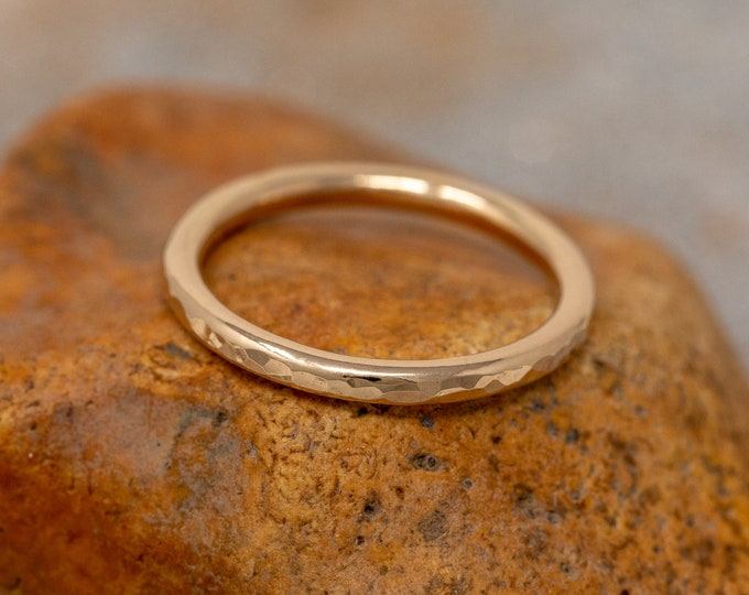 SOLID 9ct Yellow Gold Ring|2MM Gold Wedding Ring|Gold Textured Ring|Gold Wedding Band|Solid Gold Wedding Ring|Wedding Band|Unisex Ring