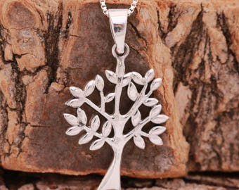 Sterling Silver Tree of Life Pendant Necklace|Silver Tree of Life Necklace|Tree Necklace|Silver Tree Necklace|Gift for Mothers|Gift for Her