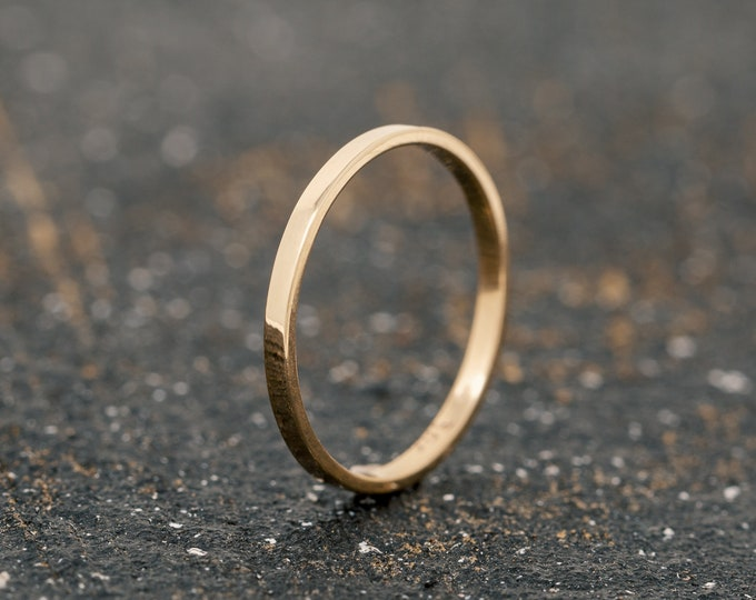 SOLID 9ct Yellow Gold Flat Wedding Ring|1.5MM Gold Wedding Ring|Gold Wedding Ring|Gold Wedding Band|Wedding Ring|Wedding Band|Unisex Ring