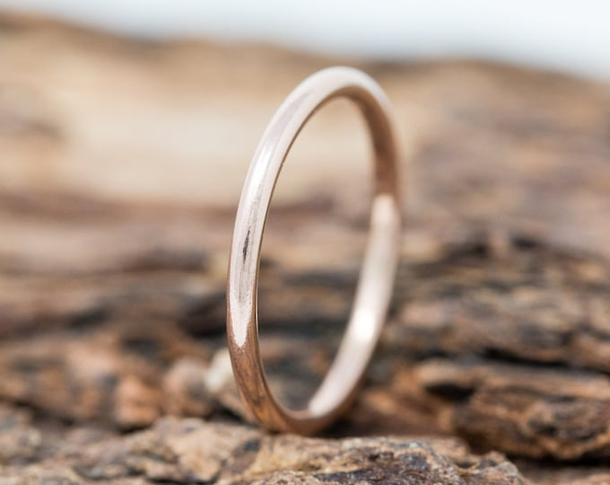 SOLID 9ct Rose Gold Ring, 1.5MM Gold Wedding Ring, Rose Gold Wedding Band, Gold Wedding Band, Rose Gold Wedding Ring, Gift for Her