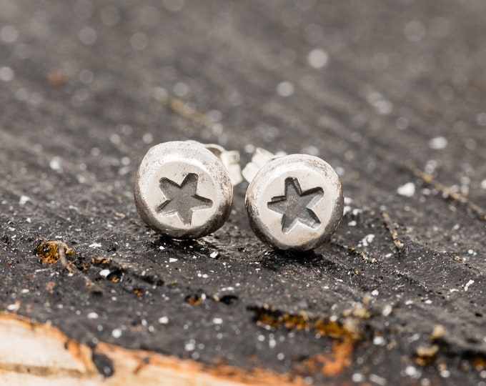 Sterling Silver Star Stud Earrings|Star Earrings |Star Stud Earrings|Celestial Earrings|Minimalist Earrings|Unisex Earrings|Gift for Her