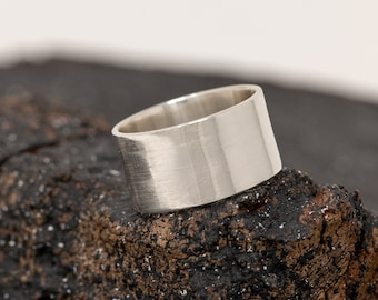 Personalised Sterling Silver Ring|Sterling Silver Wide Ring|Wide Band|Mens Silver Ring|Unisex Ring|Statement Ring|Gift for Him|Gift for Her