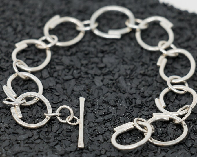 Sterling Silver Bracelet|Sterling Silver Circles of Life Bracelet|Circle Bracelet|Handmade Bracelet|Gift For Mum|Gift for Wife|Gift for Her