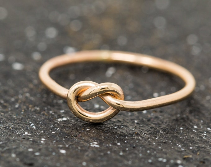 9ct Gold Knot Ring|Gold Love Knot Ring|Gold Knot Ring|Knot Ring|Promise Ring|Friendship Ring|Wedding Ring|Gift for Her|Infinity Ring