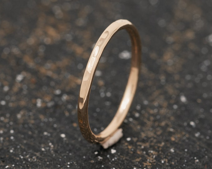 SOLID 14ct Yellow Gold Textured Ring|1.5MM Gold Wedding Ring|Embossed Gold Wedding Band|Solid Gold Wedding Ring|Wedding Band|Unisex Ring