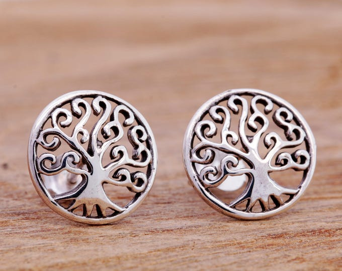 Sterling Silver Tree of Life Earrings, Tree of Life Earrings, Tree Earrings, Silver Tree Studs, Tree of Life Jewellery, Tree Jewellery