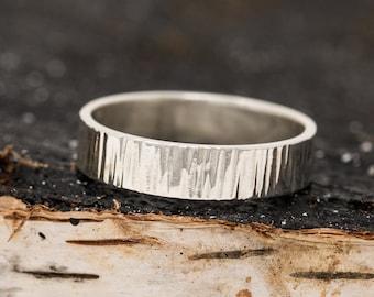 Sterling Silver Ring|Sterling Silver Tree Bark Ring|Silver Ring|Sterling Silver Unisex Ring|Sterling Silver Mens Ring|Mens Ring|Unisex Ring