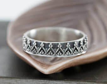 Sterling Silver Crown Ring|Sterling Silver Princess Ring|Princes Crown Ring|Princess Ring|Royal Crown Ring|Gift for Her