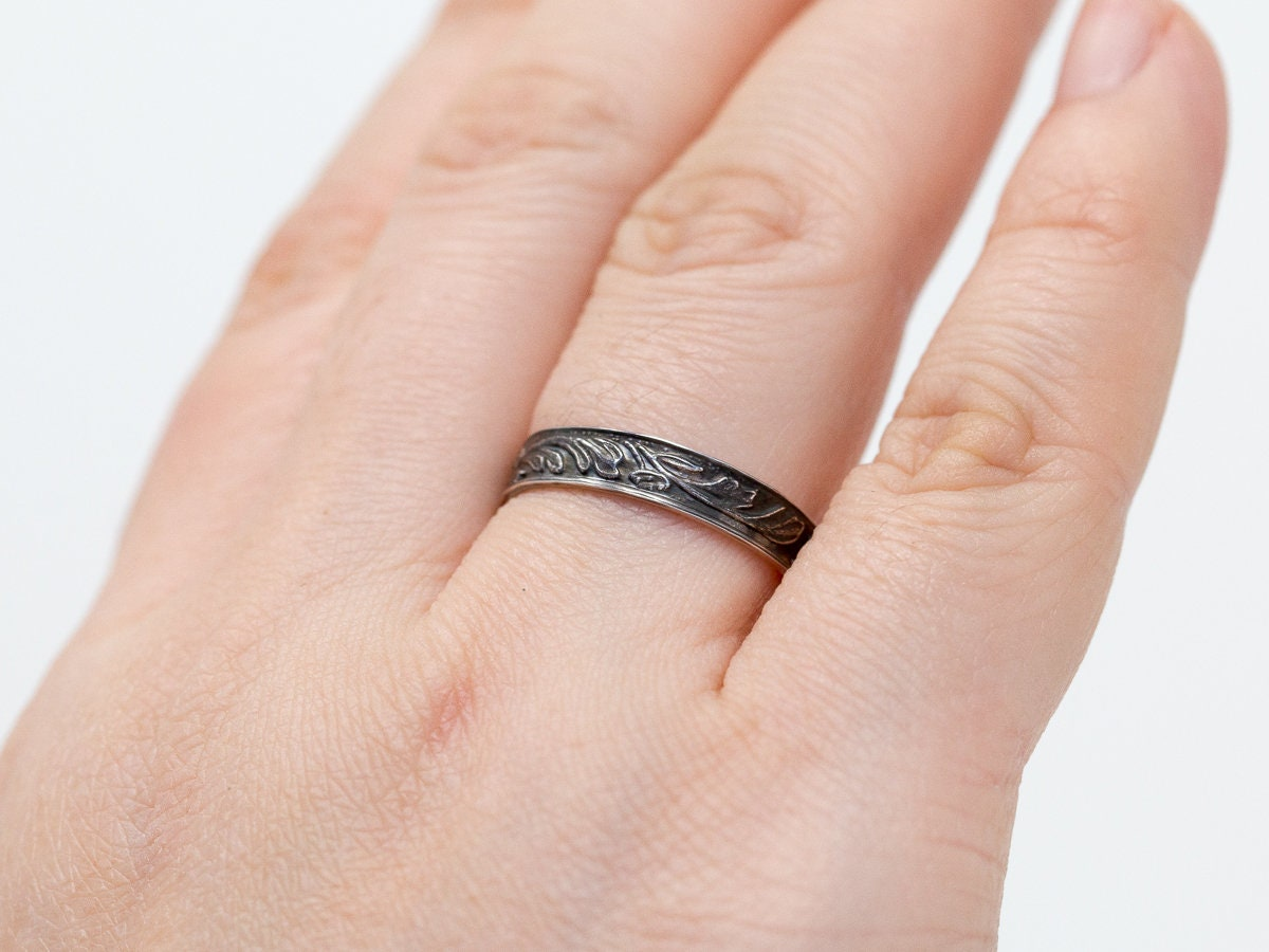 Sterling Silver Botanic Ring|Silver Floral Ring|Sterling Silver Ring ...