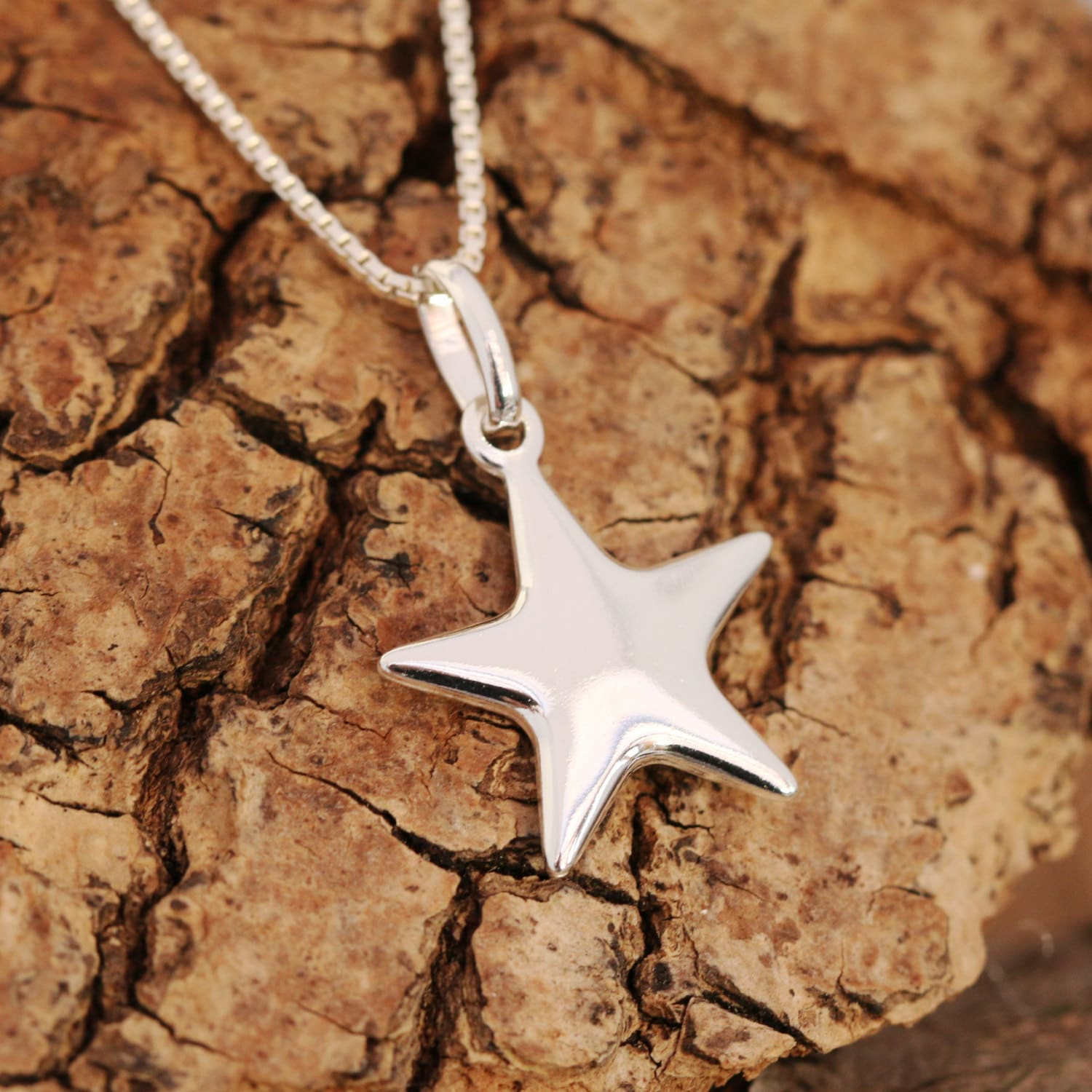 Sterling silver star pendant necklace silver star necklace wishing sterling silver star pendant necklace silver star necklace wishing star necklace lucky star necklace gift for her birthday gift aloadofball Image collections