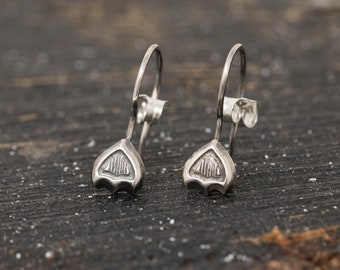 Sterling Silver Snowdrop Earrings, Snowdrop Earrings, Tulip Bud Earrings, Flower Bud Earrings, Mothers Day Gift, Gift for Her