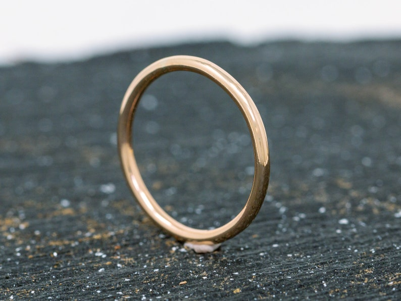 SOLID 14ct Yellow Gold Ring1.5MM Gold Wedding RingGold image 0