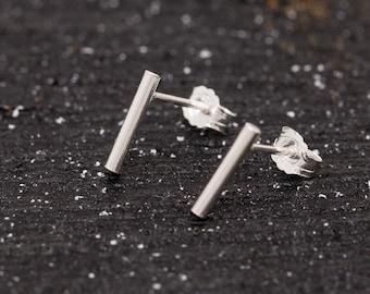 Sterling Silver Bar Earrings|Unisex Earrings|Silver Staple Earrings|Sterling Silver Stick Earrings|Bar Earrings|Minimalist Earrings