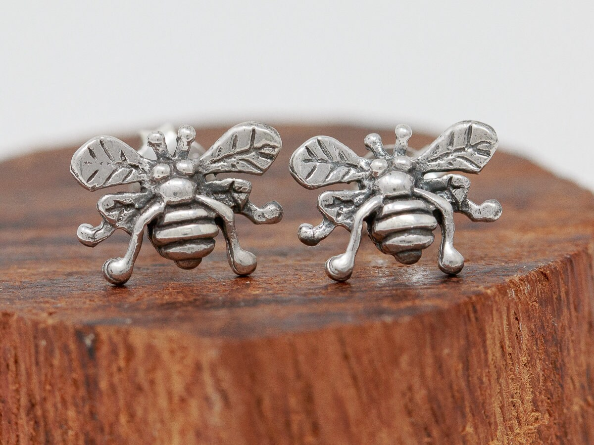 2bba62f57 ... Earrings|Silver Bumble Bee Earrings|Busy Bee Studs|Bee Earrings|Bee  Stud Earrings|Gift for Her. gallery photo ...