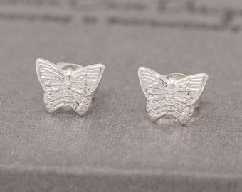 Sterling silver butterfly earrings|silver butterfly earrings|butterfly earrings|butterfly stud earrings|butterfly studs|gift for her
