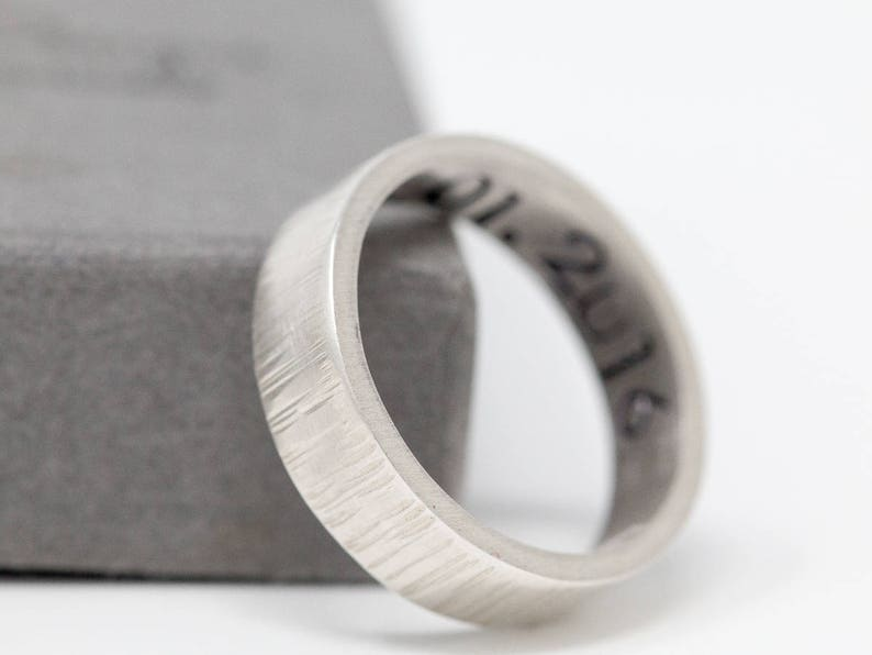 Sterling Silver Anniversary Ring|Sterling Silver Message Ring|Initial Ring|Anniversary Ring|Unisex Silver Ring|Gift for Him|Gift for Her