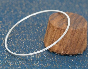 One Sterling Silver Bangle|Silver Bangle|Silver Minimalist Bangle|Silver Stacking Bangle|Stackable Bangle|Stacking Bangle|Gift for Her