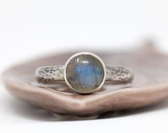 Sterling Silver n Labradorite Ring| Labradorite Ring|Gemstone Ring|Labradorite Cabochon Ring|Natural Gem Ring|Gift for Her|Gift for Mother