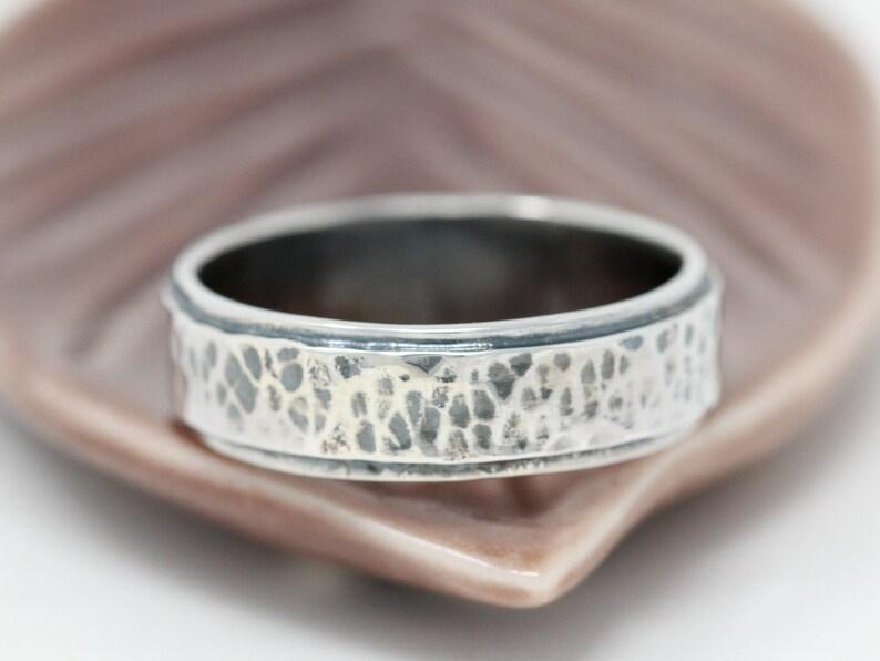 Sterling Silver Unisex RingSterling Silver RingRustic image 0