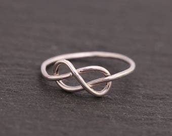 Sterling Silver Infinity Knot Ring|Silver Infinity Knot Ring|Infinity Knot Ring|Infinity Ring|Promise Ring|Infinity Ring|Bridesmaids Ring