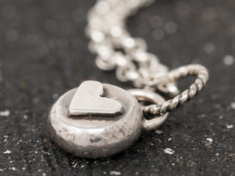 Handmade Sterling Silver Heart NecklaceHeart NecklaceLove image 0