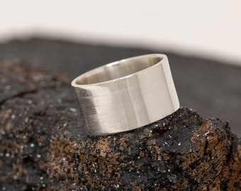 Personalised Solid Sterling Silver Ring, Wide Ring, Wide Band, Mens Silver Ring, Unisex Ring, Statement Ring, Gift for Him, Gift for Her