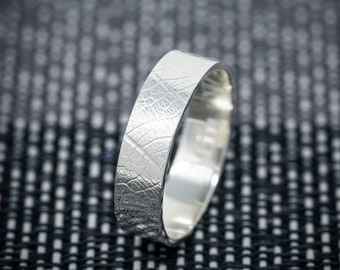 Handmade Sterling Silver Leaf Ring, Leaf Skeleton Ring, Unique Wedding Band, Promise Ring, Engagement Ring Band, Gift for her or him