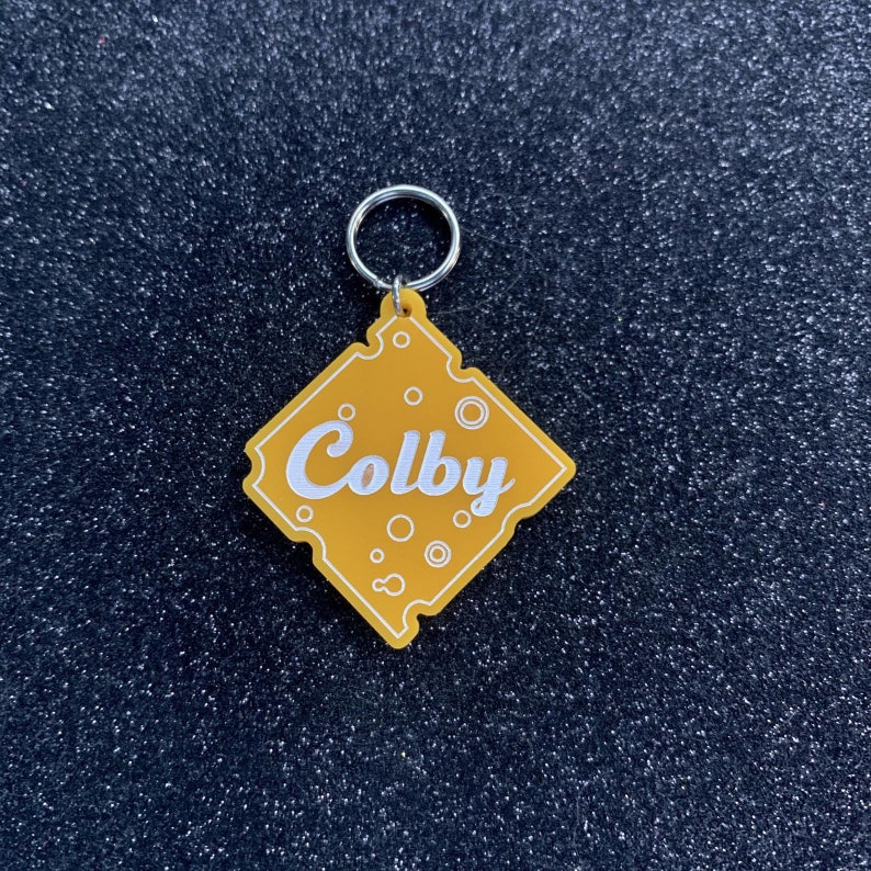 Cheese Slice Pet Tag