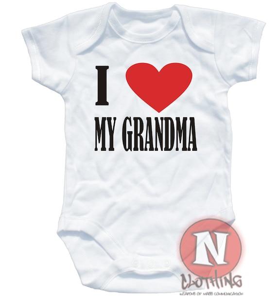 I loveheart Grandma /& Grandad funny baby vest bodysuit babygrow