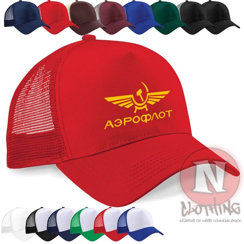 Aeroflot Russian airline retro style cap Half mesh retro  b60d6836793c