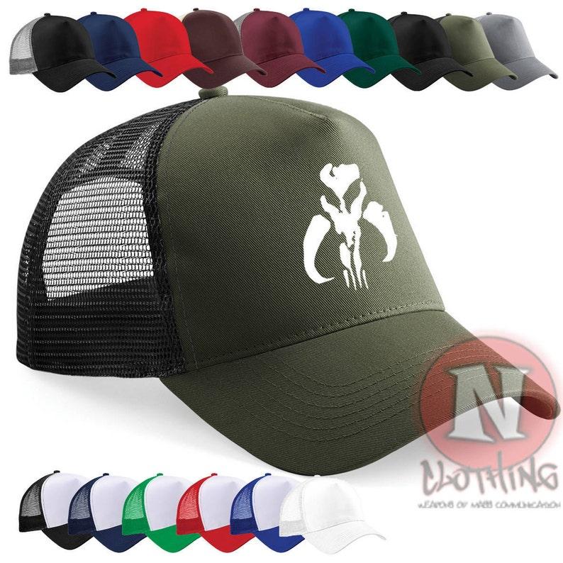 3cebe93be0920 Boba Fett Mandalorian cap Half mesh retro trucker baseball hat