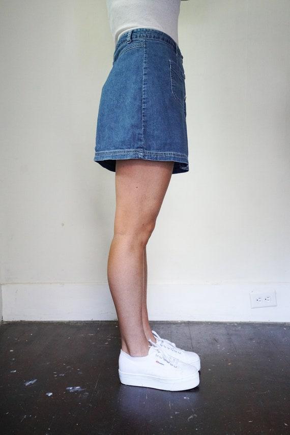 90's y2k Denim Mini Skirt by Esprit Size 9 | y2k … - image 3