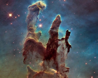 Hubble photograph of the Eagle Nebula