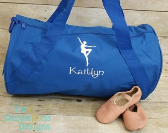 d0aec31f6012 Personalized BALLET Duffel Gym Bag. Dance gift