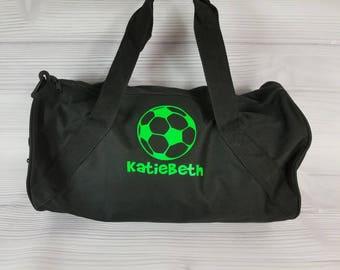 Personalized SOCCER Duffel Gym Bag. Soccer team, soccer bag, sports bag, duffel  bag with long strap, soccer gift, soccer team bag cca7d4c6c0