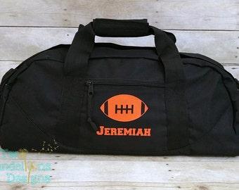 e650e77f98 Personalized FOOTBALL LARGE Duffle Bag. Personalized football bag