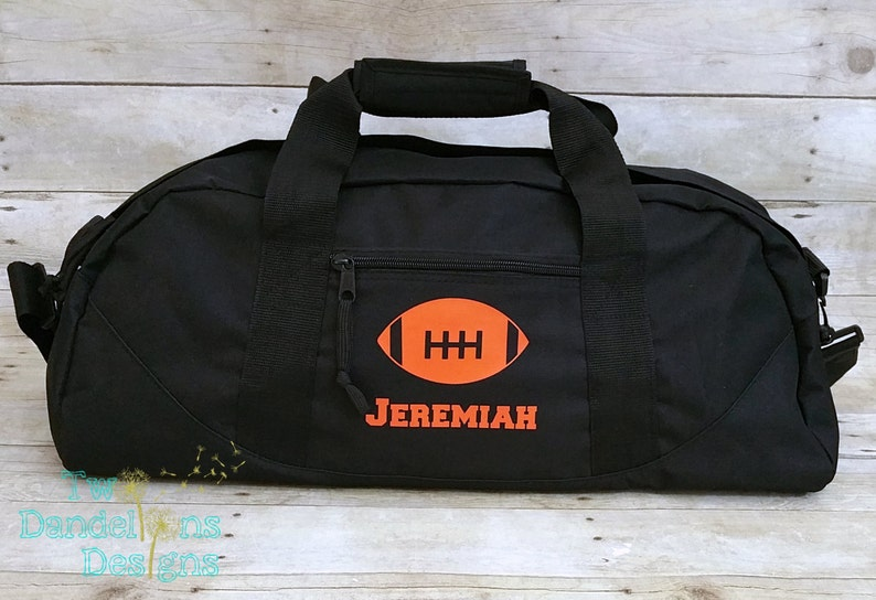 3cda84eb2 Personalized FOOTBALL LARGE Duffle Bag. Personalized football | Etsy