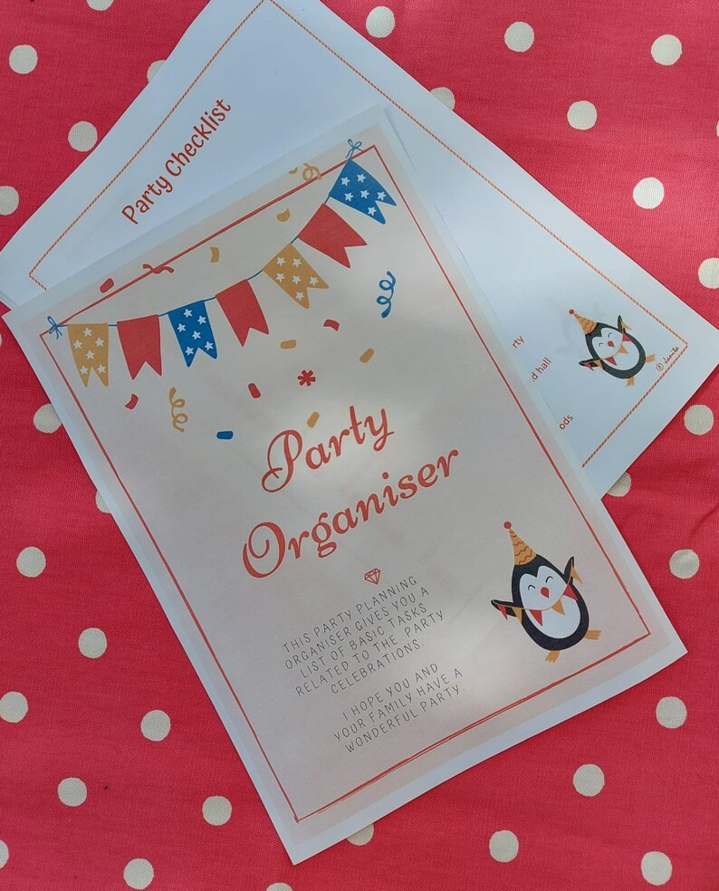 Party Organiser Printable Planner Pack Event Planner Kit image 0