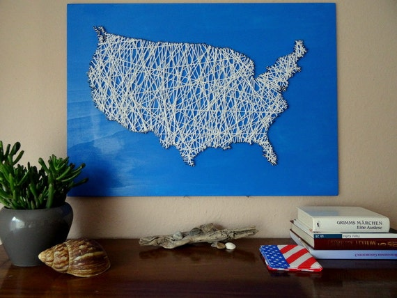 Usa Landkarte Holzdekoration Buro Deko Usa Karte Etsy