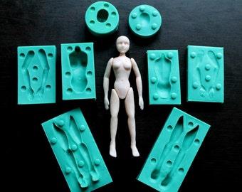 Silicone Mould / Set 3D WOMAN BODY /  Sugarcraft Cake Decorating Fondant / fimo mold
