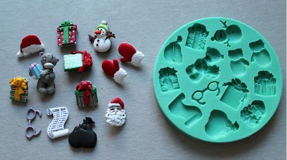 Silikonform Weihnachtsfiguren Sugarcraft Kuchen Dekorieren Fondant Fimo Formen