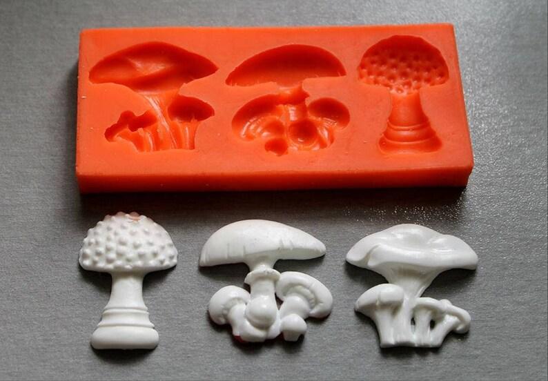 Silicone Mould / Mushrooms 3 / Sugarcraft Cake Decorating Fondant / fimo  mold