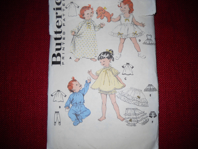 Butterick 8239 chicas vintage camisón patrón talla 3 niño   Etsy