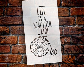 Life Is Beautiful - Old Timey - Word Art Stencil -  Select Size - STCL1837 - by StudioR12