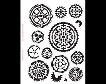 """Ornamental Gears- 8 1/2"""" X 11""""-SKU:STCL147"""