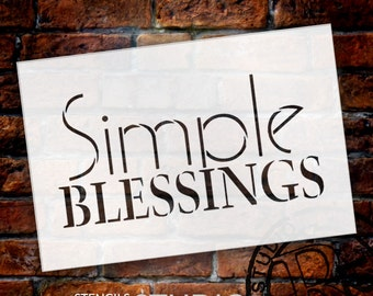 Simple Blessings - Word Stencil - Select Size - STCL1474 - by StudioR12