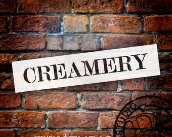 Creamery - Skinny Serif - Word Stencil - Select Size - STCL2058 - by StudioR12